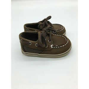 Sperry Topsider Intrepid Brown Leather Boat Shoes